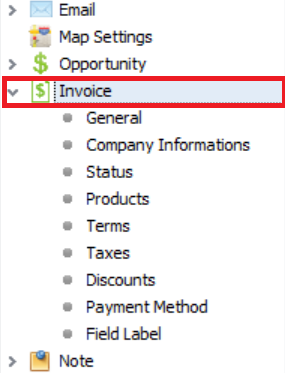 Setting up invoice 2